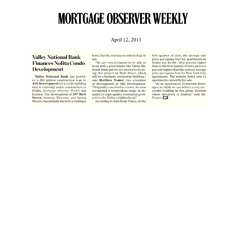 04-12-2013 Mortgage Observer Weekly